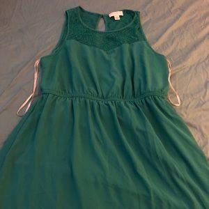 F21 Emerald Lace Dress, 1XL